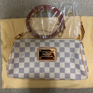 Louis Vuitton Eva Clutch in Damier Azur